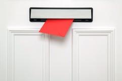 Rode brievenbus Royalty-vrije Stock Afbeeldingen