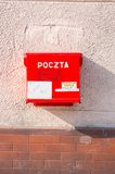 Rode brievenbus Royalty-vrije Stock Foto's