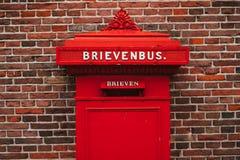Rode Brievenbus Royalty-vrije Stock Afbeelding