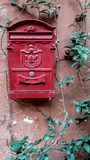 Rode Brievenbus Rome, Italië Royalty-vrije Stock Foto