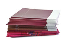 Rode brochures Royalty-vrije Stock Afbeeldingen