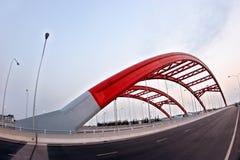 Rode brug Royalty-vrije Stock Afbeelding