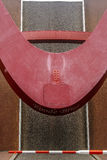Rode brug stock fotografie