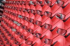 Rode buitenspiegels Stock Foto's