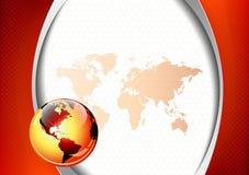 Rode bureau en bedrijfs abstracte achtergrond Stock Fotografie