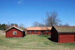 Rode cabines Royalty-vrije Stock Afbeeldingen