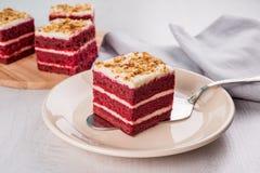 Rode cake Stock Fotografie