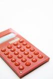 Rode calculator op de witte achtergrond Stock Afbeelding