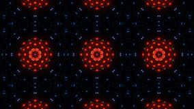 Rode caleidoscoopbloem abstracte mandala blauwe rood en het gloeien vector illustratie