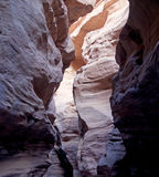 Rode canion Eilat Stock Afbeeldingen