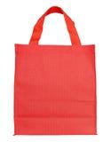 Rode canvas het winkelen zak Royalty-vrije Stock Afbeelding