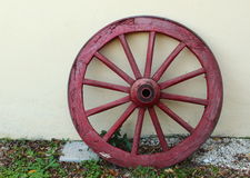 Rode cartwheel Stock Afbeelding