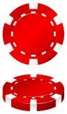 Rode casinospaander op wit Stock Foto's