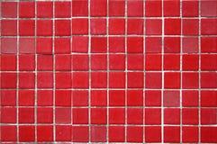 Rode ceramiektegelachtergrond stock foto's