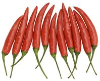 Rode Chilis Stock Foto's