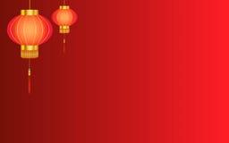 Rode Chinese lantaarnachtergrond Stock Fotografie