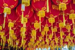 Rode Chinese lantaarns, Chinees Nieuwjaar in Maleisië royalty-vrije stock afbeeldingen