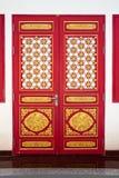 Rode Chiness-deur Royalty-vrije Stock Afbeelding