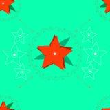 Rode Christmasy-bloem Royalty-vrije Stock Afbeelding