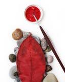 Rode cirkel en rode driehoek Royalty-vrije Stock Afbeelding
