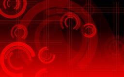 Rode cirkels Stock Afbeeldingen