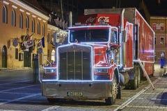 Rode Coca-Cola-vrachtwagen Royalty-vrije Stock Fotografie