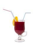 Rode cocktail die op wit wordt geïsoleerde Royalty-vrije Stock Afbeeldingen