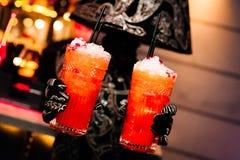 Rode cocktail in een glas Stock Fotografie