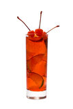 Rode cocktail met Kers royalty-vrije stock afbeelding