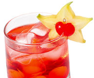 Rode cocktaile met tonicum en grenadine Stock Afbeelding