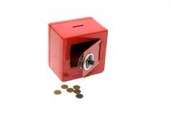 Rode combinatiespaarbank Stock Afbeeldingen