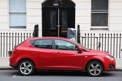 Rode Compacte Auto Royalty-vrije Stock Afbeelding