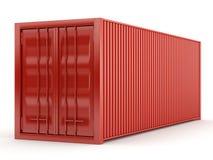 Rode container Royalty-vrije Stock Afbeeldingen