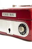 Rode contant gelddoos Royalty-vrije Stock Afbeelding