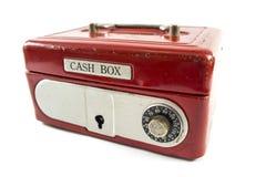 Rode contant gelddoos Royalty-vrije Stock Foto