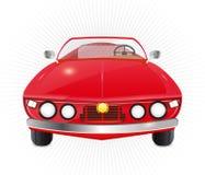 Rode convertibele auto Royalty-vrije Stock Foto's