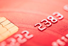 Rode creditcard Royalty-vrije Stock Afbeelding