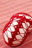 Rode crochet Paaseieren royalty-vrije stock afbeelding