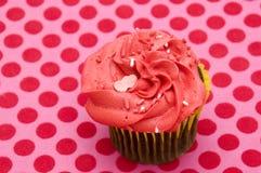 Rode Cupcake Stock Foto's