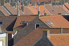 Rode daken Stock Fotografie