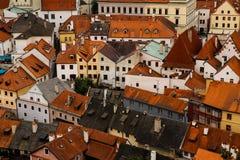 Rode daken Stock Afbeeldingen