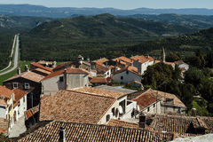 Rode daken van Motovun Royalty-vrije Stock Foto