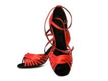 Rode dansende schoenen Stock Fotografie