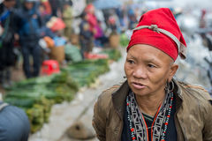 Rode Dao-vrouw in Sapa, Vietnam Stock Afbeeldingen