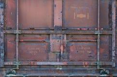 Rode de autodeur van de Spoorweg Stock Afbeelding