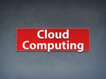Rode de Banner Abstracte Achtergrond van Cloud Computing stock illustratie