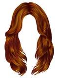 Rode de gemberkleuren van in vrouwen lange haren Schoonheidsmanier r Royalty-vrije Stock Fotografie
