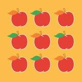 Rode de herfstappelen Royalty-vrije Stock Afbeelding