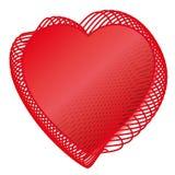 Rode de liefdehitte van de valentijnskaart Stock Illustratie