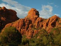 Rode de Rotswaaier van Arizona Sedona Stock Afbeeldingen